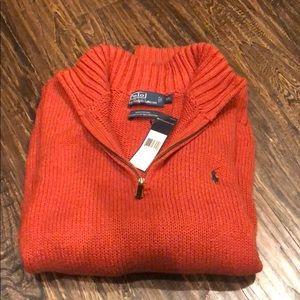 NWT Polo 1/4 Zip Men's Sweater